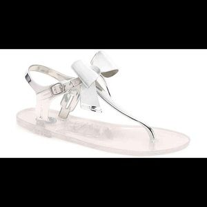 BCBG Silver Sandals size 6